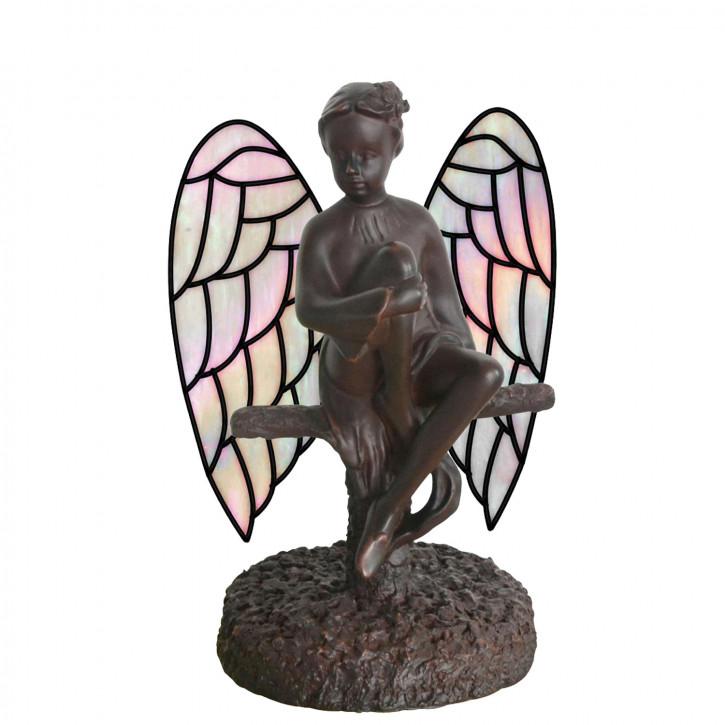 Wandlampe im Tiffany-Stil Engel 17,5 x 25 cm