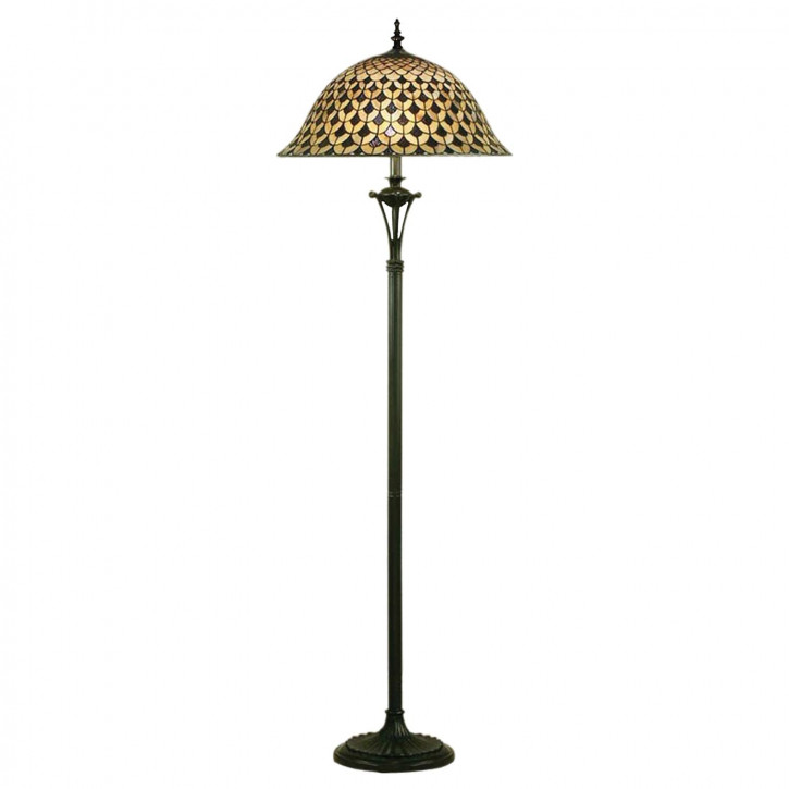 "Stehlampe Tiffany ""Classic Pattern"""