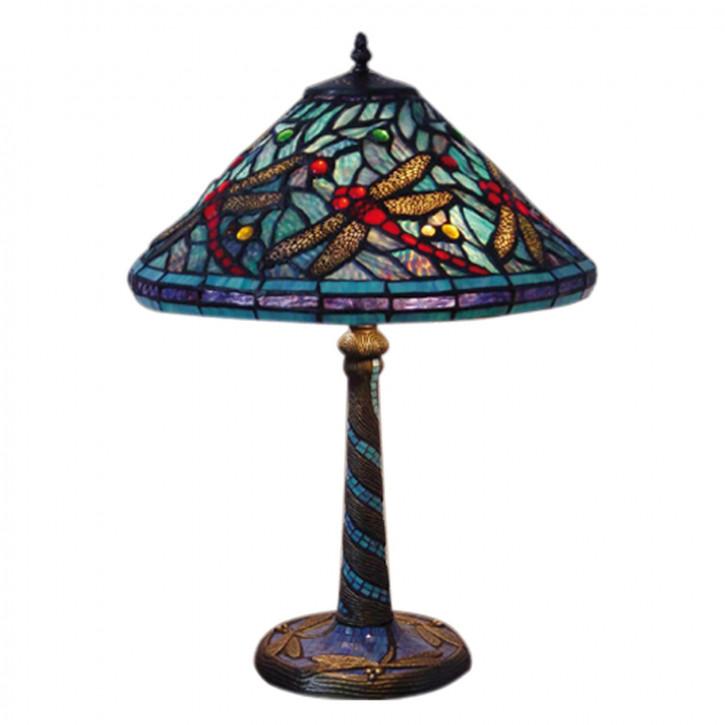 """Tischlampe im Tiffany Stil """"Dragonfly Blue"""""""