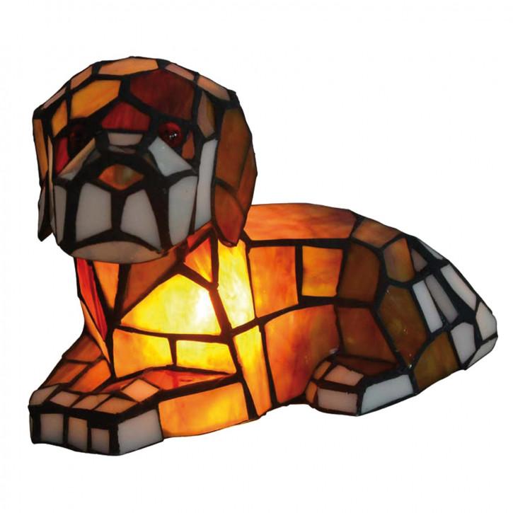 Dekolampe im Tiffany-Stil Hund 23 x 14 x 16 cm