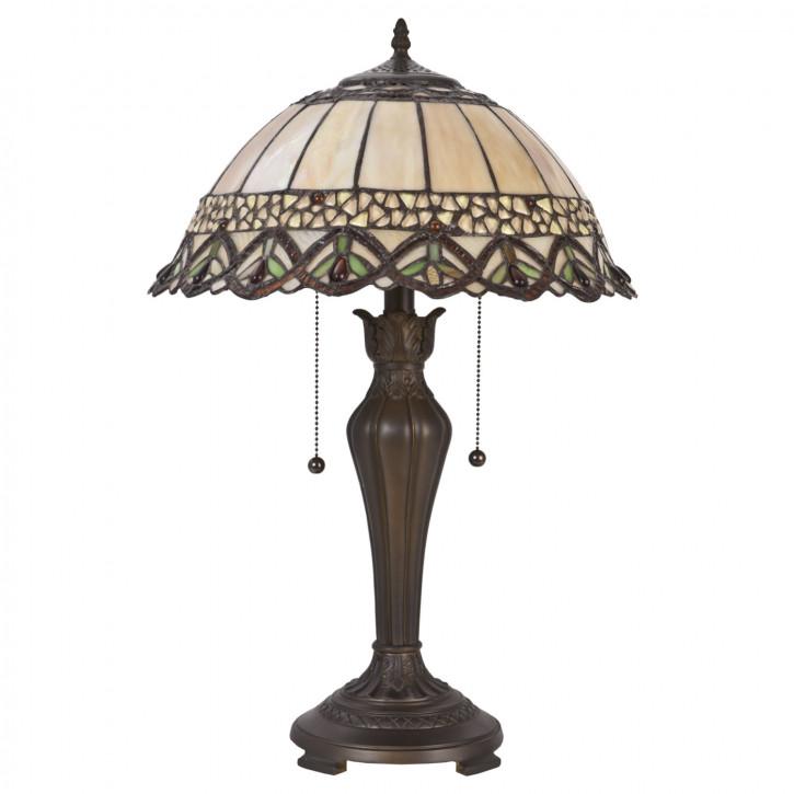 "Tischlampe Tiffany komplett ""Brown Style"""