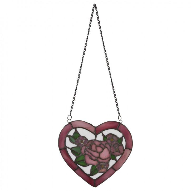 Tiffanyfenster Blume Herz