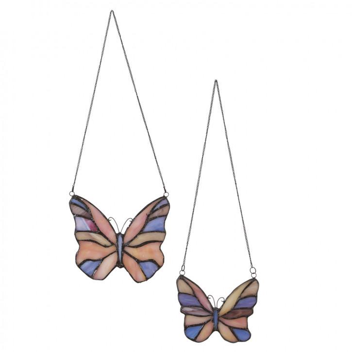 """Tiffanyfenster Schmetterlinge Set """"Tricolor"""""""