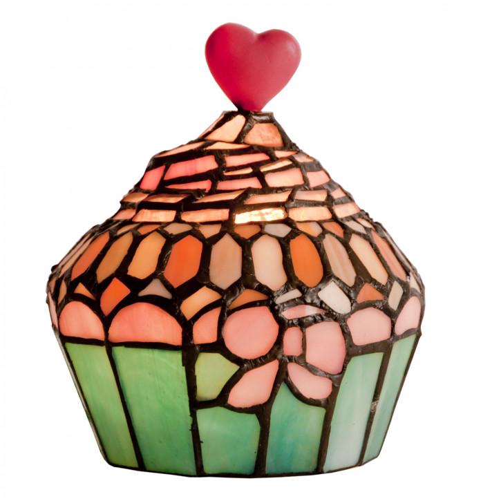 Dekolampe im Tiffany-Stil Muffin 17 x 16 cm