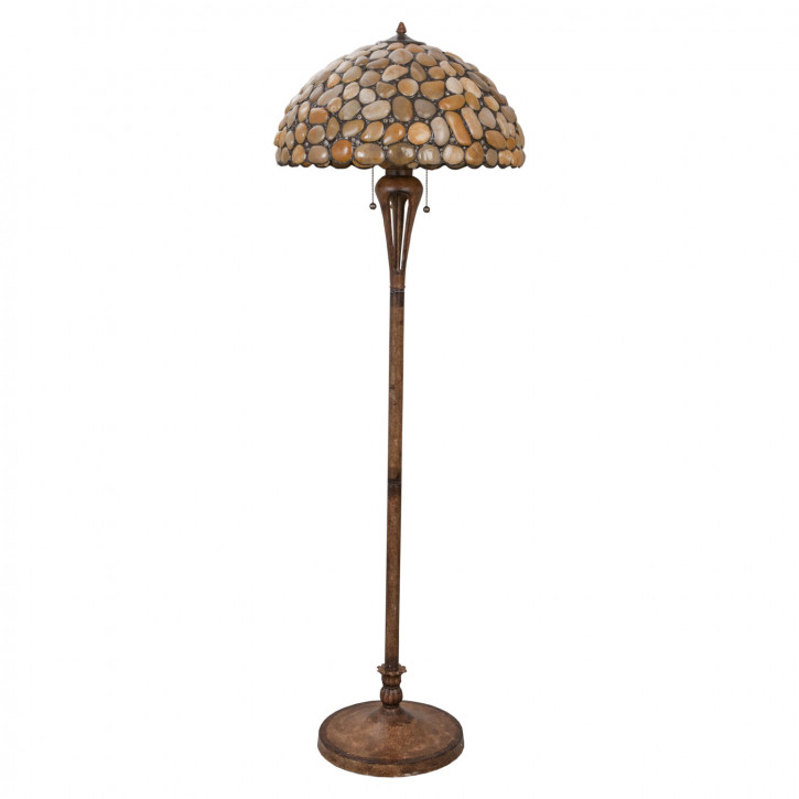 "Stehlampe Tiffany ""Riverstone"""