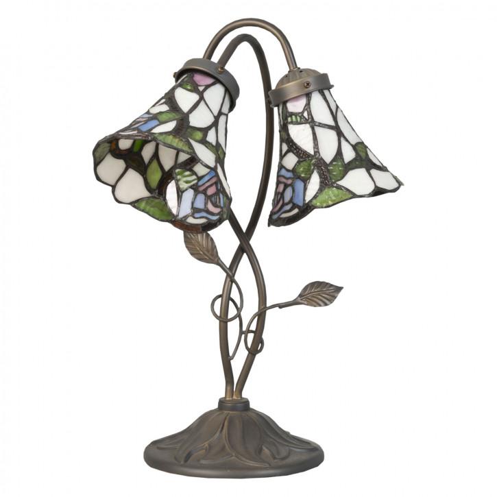 Tischlampe im Tiffany-Stil ca. 34 x 28 x 47 cm
