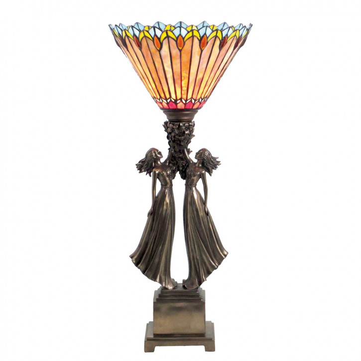 Tischlampe im Tiffany-Stil ca. 30 x 69 cm