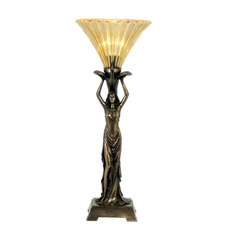 Tischlampe im Tiffany-Stil ca. 25 x 23 x 64 cm