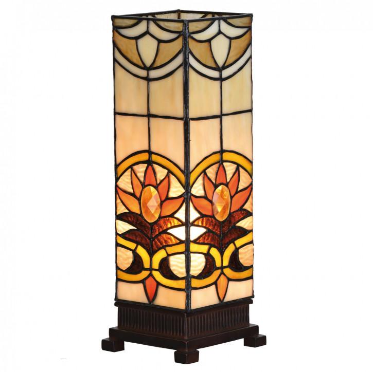 Tischlampe Lichtsäule Tiffany-Stil ca. 12,5 x 35 cm