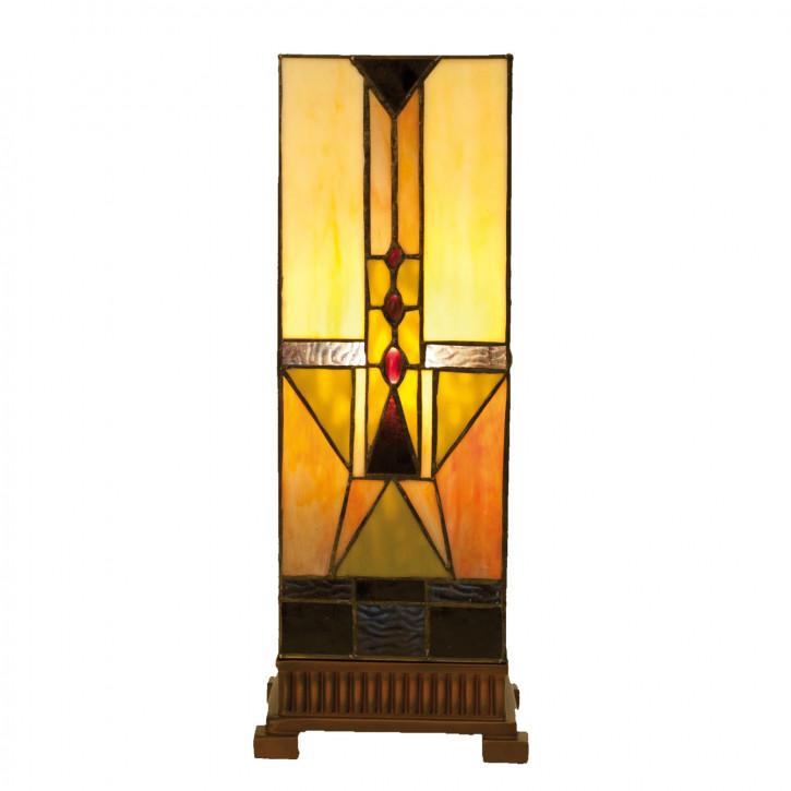 Tischlampe Lichtsäule Tiffany-Stil ca. 18 x 45 cm