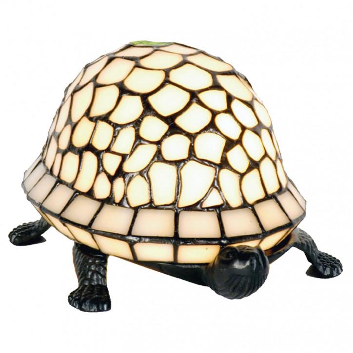 Dekolampe im Tiffany-Stil Creme Schildkröte 11x23cm