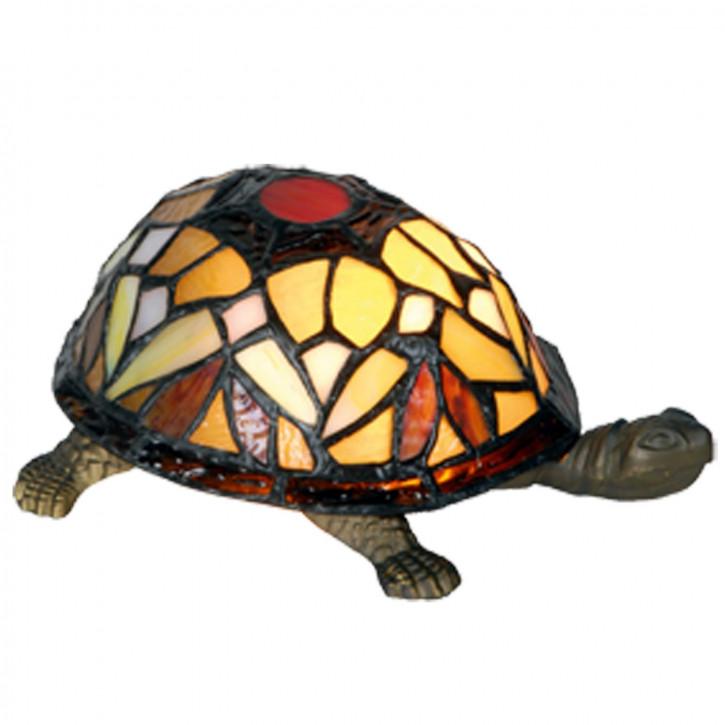 Dekolampe im Tiffany-Stil Schildkröte 11x23cm
