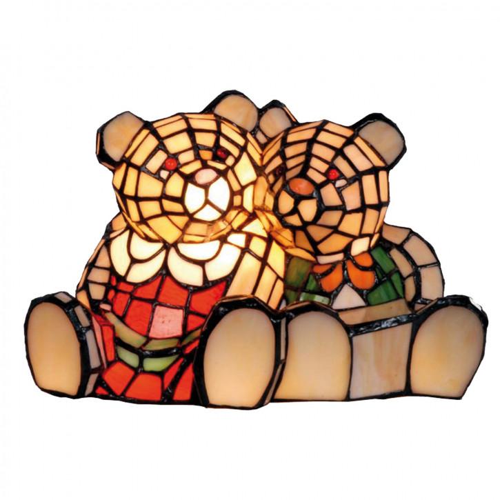 Dekolampe im Tiffany-Stil Bären 18x30cm
