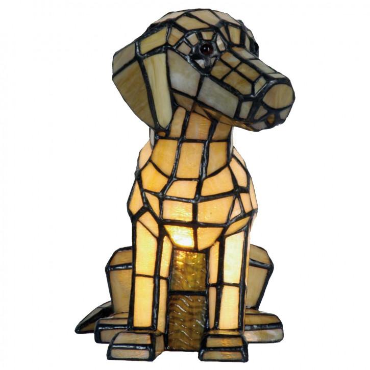 Dekolampe im Tiffany-Stil Hund 26x24cm