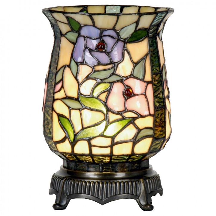 Windlicht im Tiffany Stil Pastell 16x23cm
