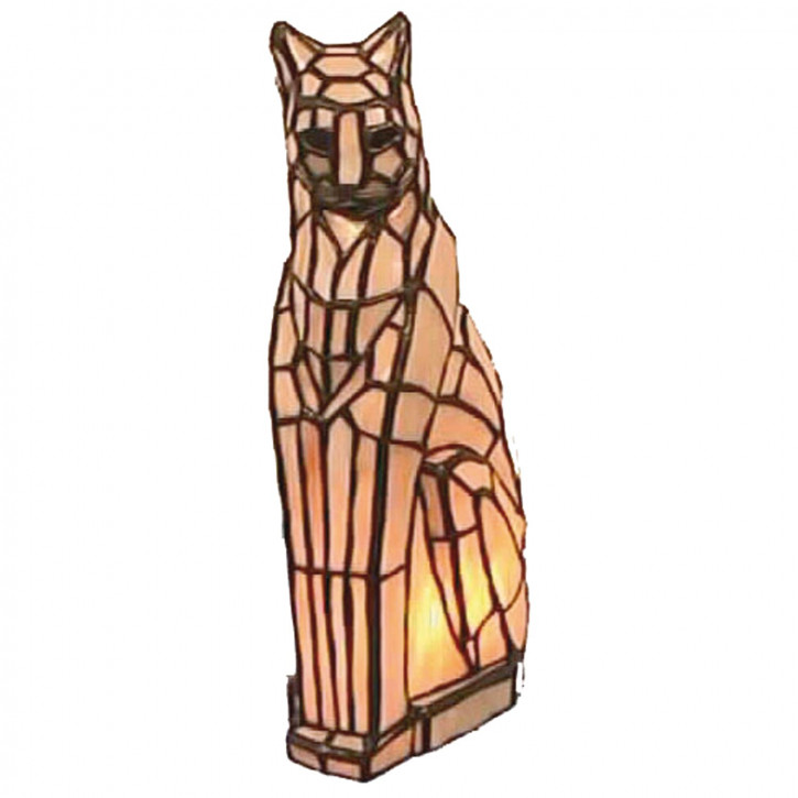 Dekolampe im Tiffany-Stil Katze 33x17cm