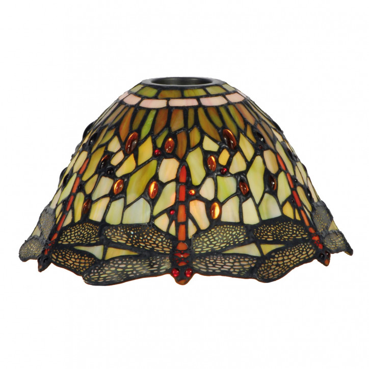 Lampenschirm Tiffany-Stil ca. Ø 25cm Libelle grün