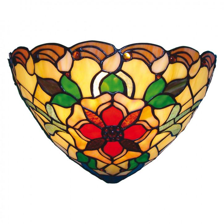 Wandlampe im Tiffany-Stil 30x19cm Blüte