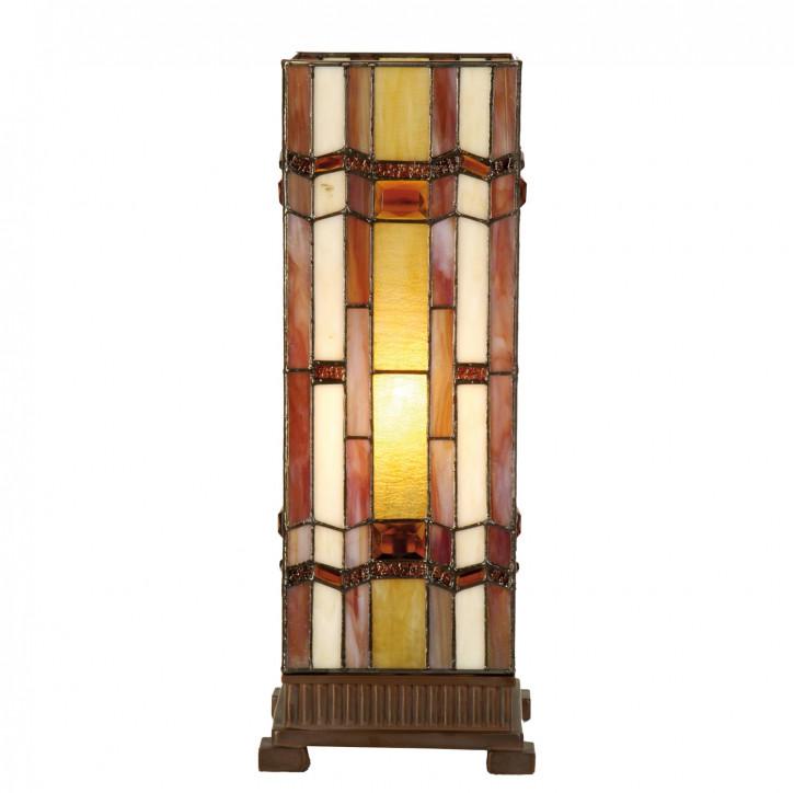 Säulenlampe im rustikalen Tiffany-Stil 45x18cm