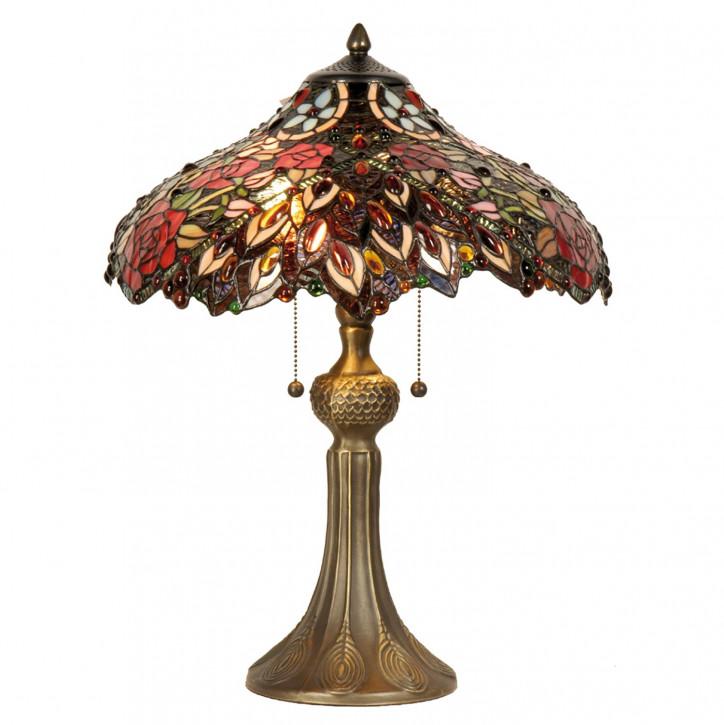 Tischlampe Tiffany Ø 43x58 cm E27/max 2x60W