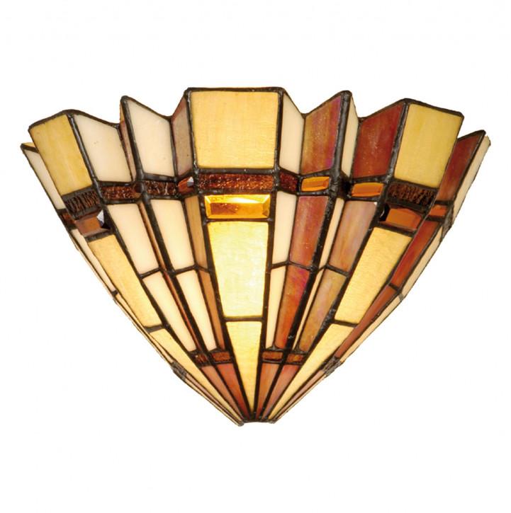 Wandlampe im Tiffany-Stil 30x19cm Naturfächer Stil