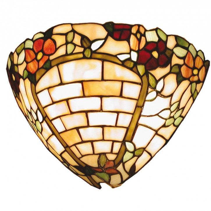 Wandlampe im Tiffany-Stil 30x19cm Rosenmauer