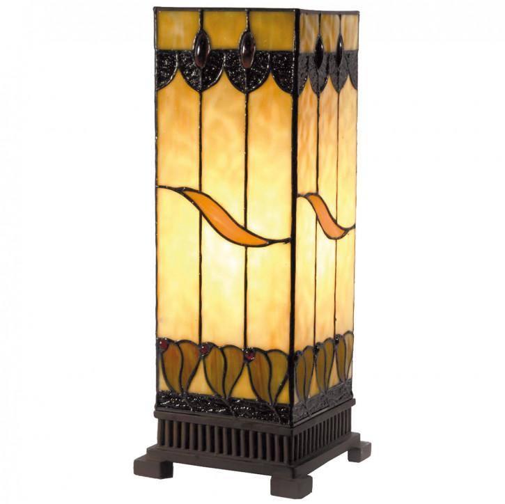 Säulenlampe im Tiffany-Stil Gelbtöne 45x18cm