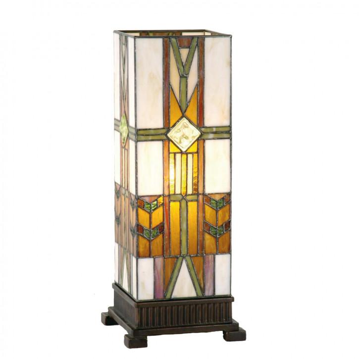 Säulenlampe im Tiffany-Stil 45x18cm