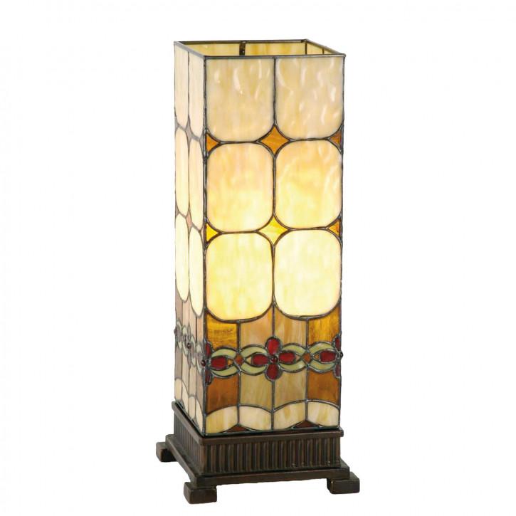Säulenlampe im Tiffany-Stil Blumenkette 45x18cm