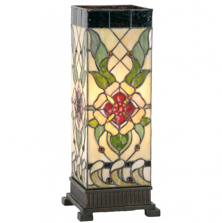 Tiffany Säulenlampe Exotische Blume 45x18cm