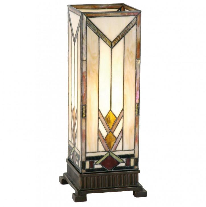 Säulenlampe im Tiffany-Stil V-Muster 45x18cm