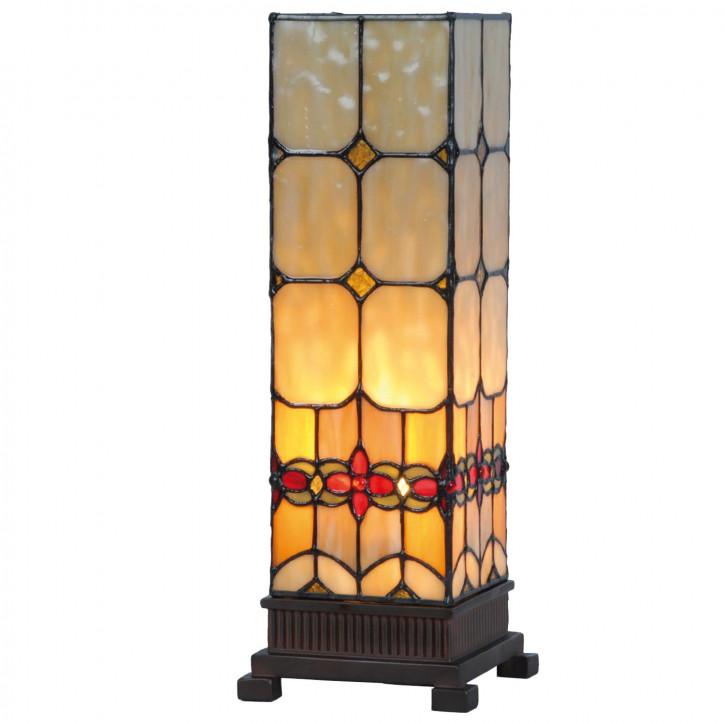 Säulenlampe im Tiffany-Stil 35x12.5cm Blume