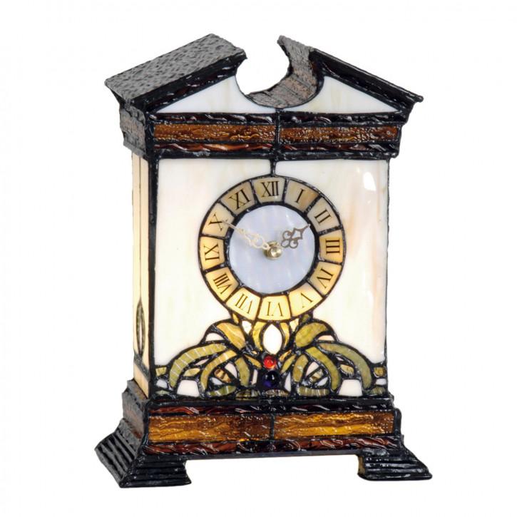 Dekolampe im Tiffany-Stil Uhr 31x20cm