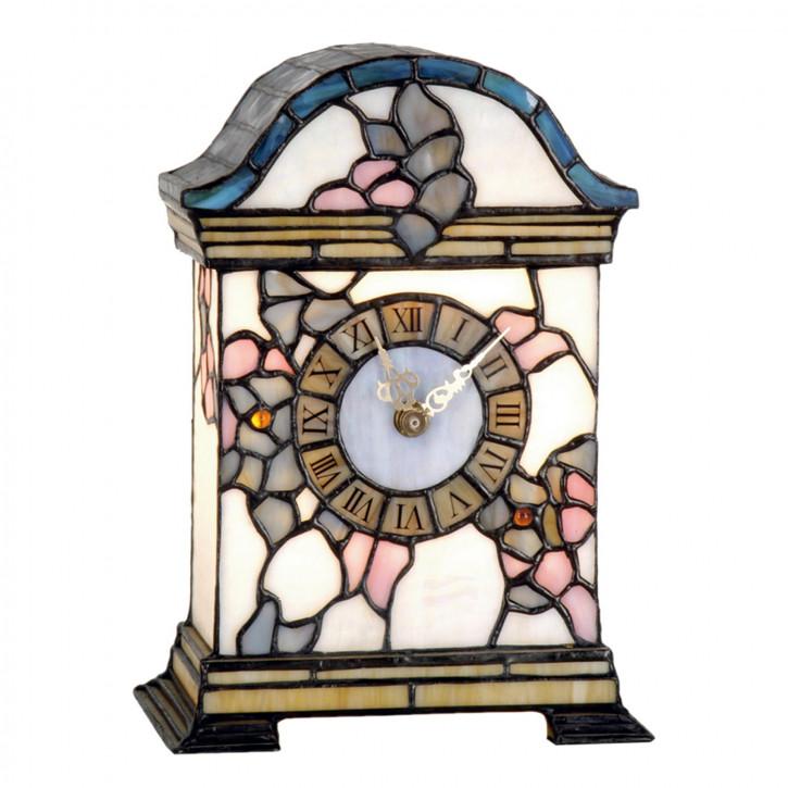 Dekolampe im Tiffany-Stil Uhr 26x18cm