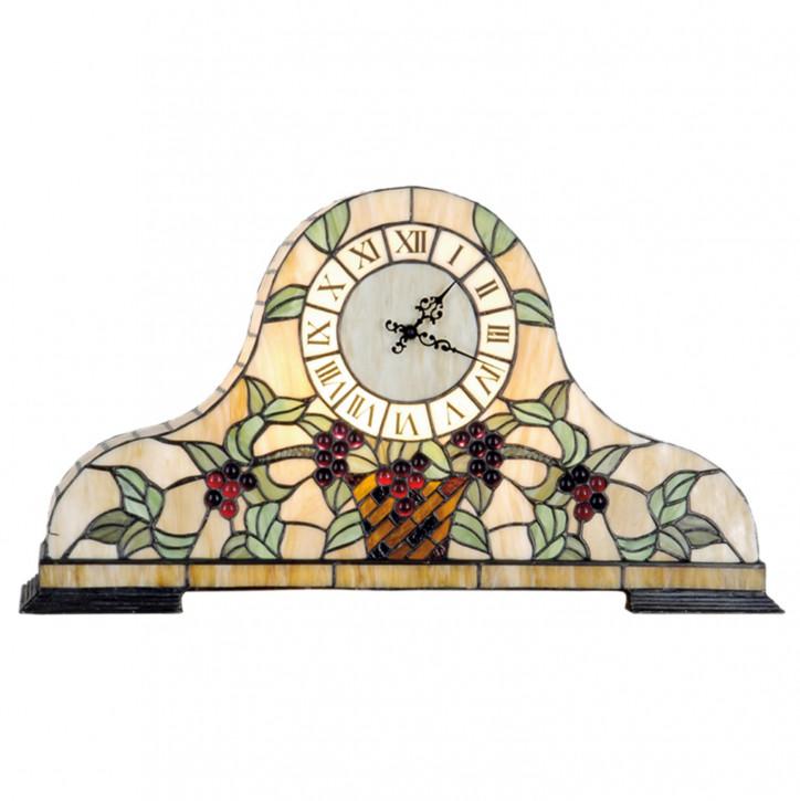 Dekolampe im Tiffany-Stil Uhr 31x55cm