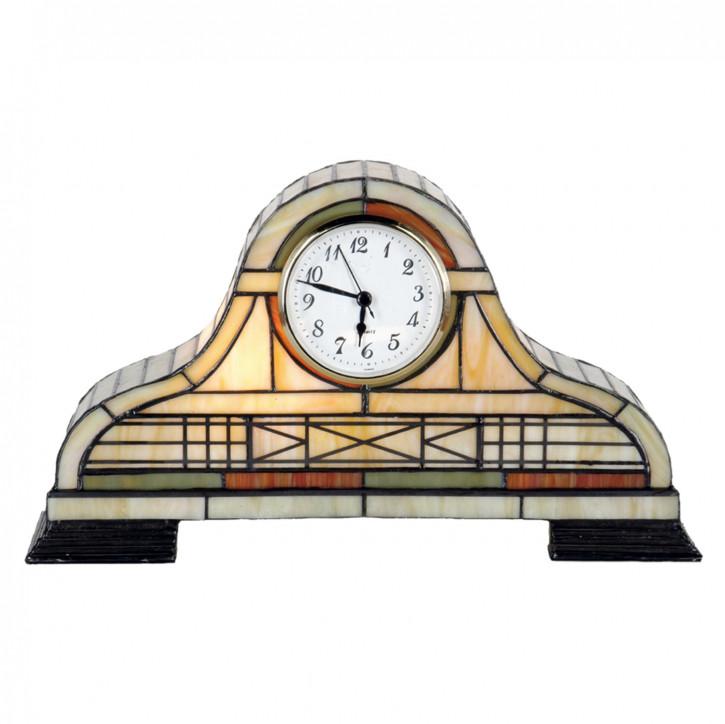 Dekolampe im Tiffany-Stil Uhr 20x32cm