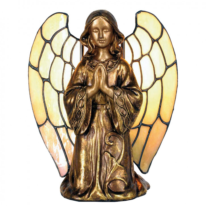 Dekolampe im Tiffany-Stil Engel 20x18cm