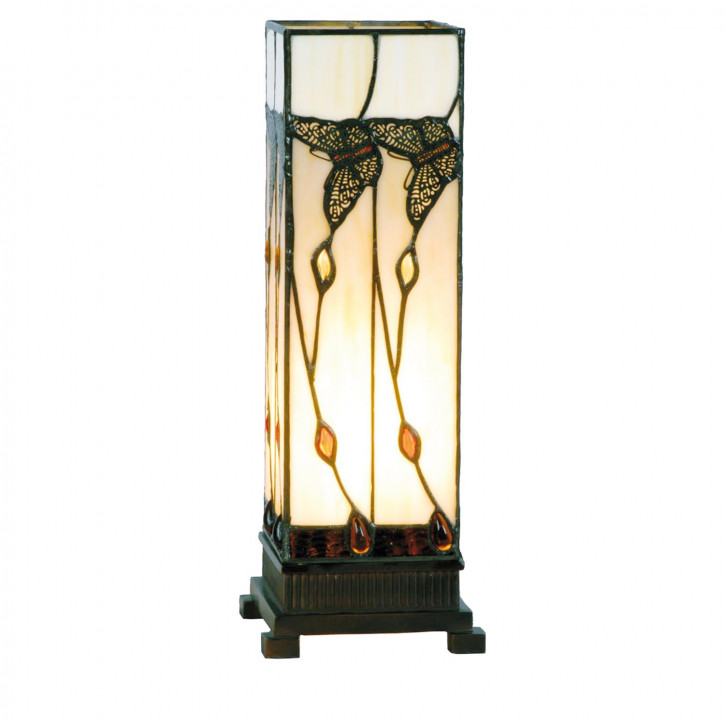 Säulenlampe im Tiffany-Stil 35x12.5cm Schmetterling