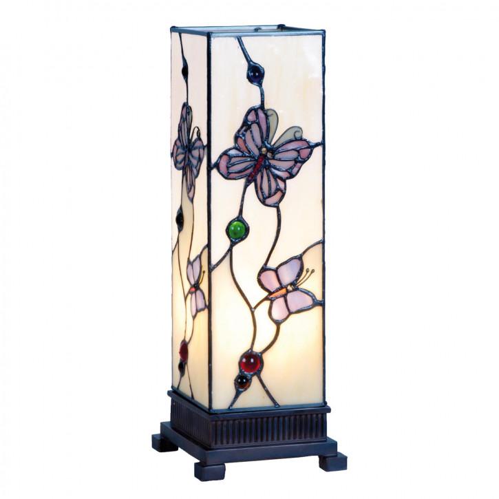 """Tiffany Säulenlampe 35x12.5cm """"Modern Butterfly"""""""