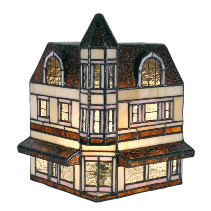Dekolampe im Tiffany-Stil Haus 26x28cm