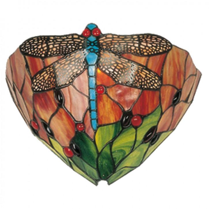 Wandlampe im Tiffany-Stil 30x19cm Libelle