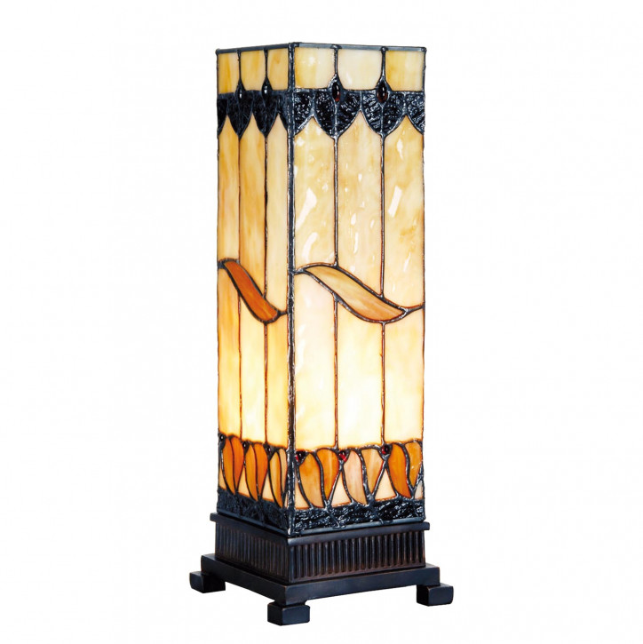 Säulenlampe im Tiffany-Stil 35x12.5cm Wellenmuster