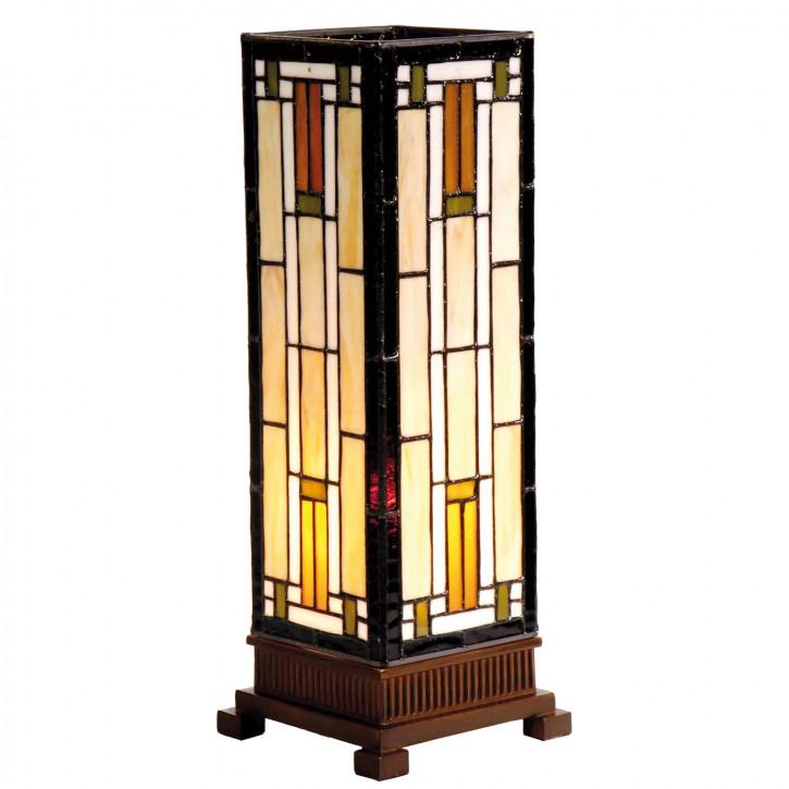 """Tiffany Säulenlampe 35x12.5cm """"Quader"""""""