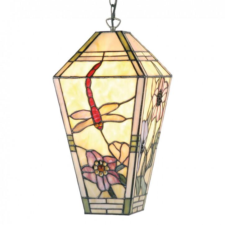 Hängelampe im Tiffany-Stil Libellen 25x46cm