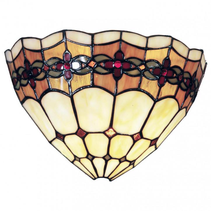 Wandlampe im Tiffany-Stil 30x19cm Blumenkette