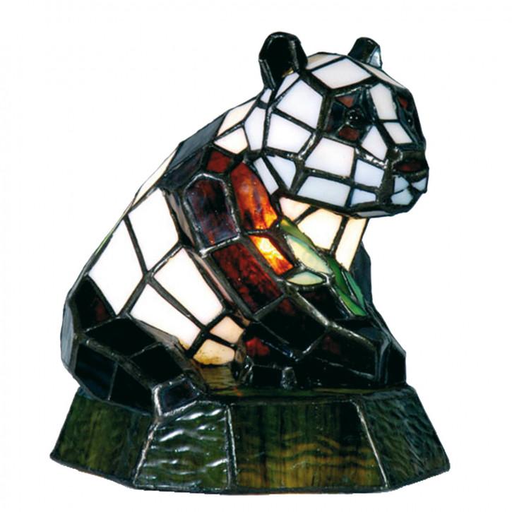 Dekolampe im Tiffany-Stil Panda 18x18cm