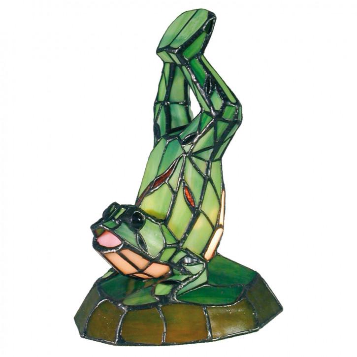 Dekolampe im Tiffany-Stil Frosch 25x16cm
