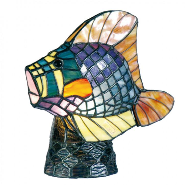 Dekolampe im Tiffany-Stil Fisch 23x23cm