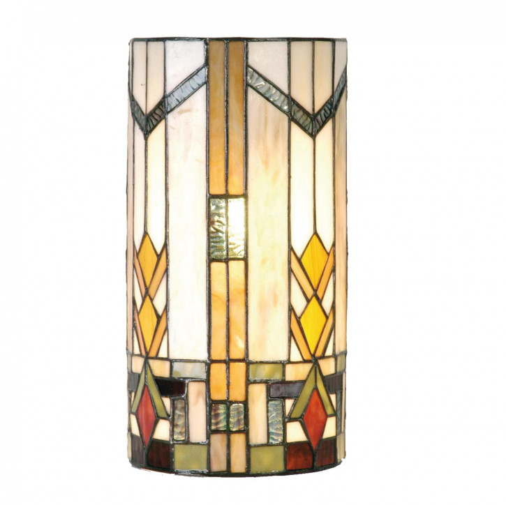 Wandlampe im Tiffany-Stil 35x18cm Cherokee