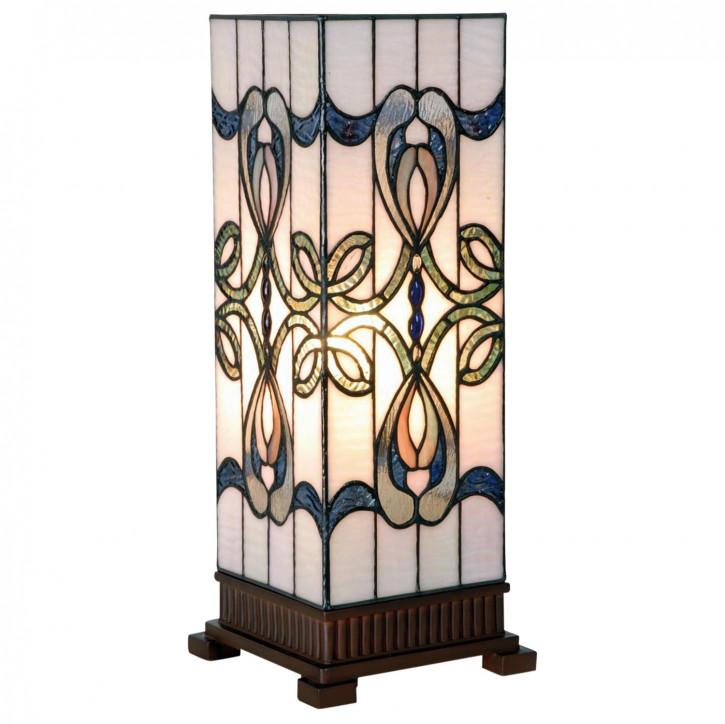 Tiffany Säulenlampe Schleifenmuster 45x18cm